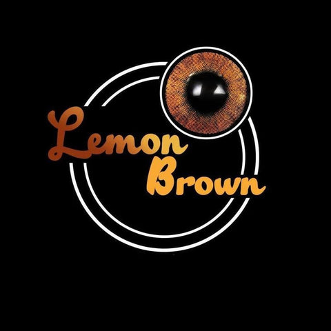 Lemon Brown Colored Contact Lenses | Lamon Beauty
