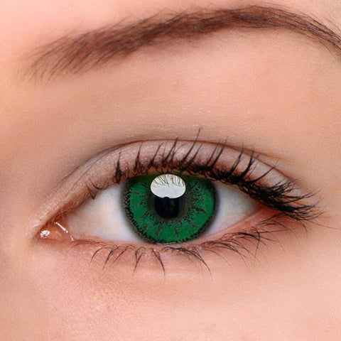 Miku Green Colored Contact Lenses | Lamon Beauty