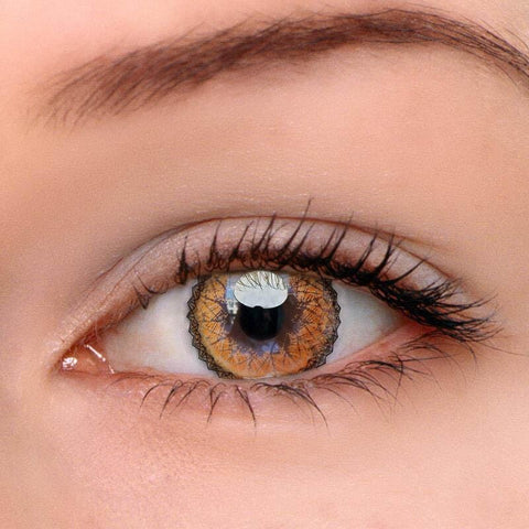 Muse Brown Colored Contact Lenses | Lamon Beauty
