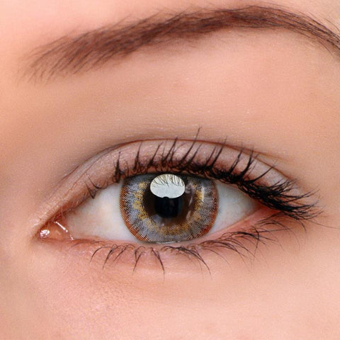 Pony Grey-Brown Colored Contact Lenses | Lamon Beauty
