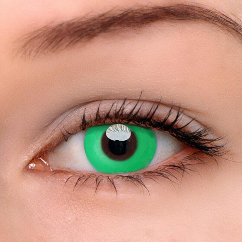 Pure Green Colored Contact Lenses | Lamon Beauty