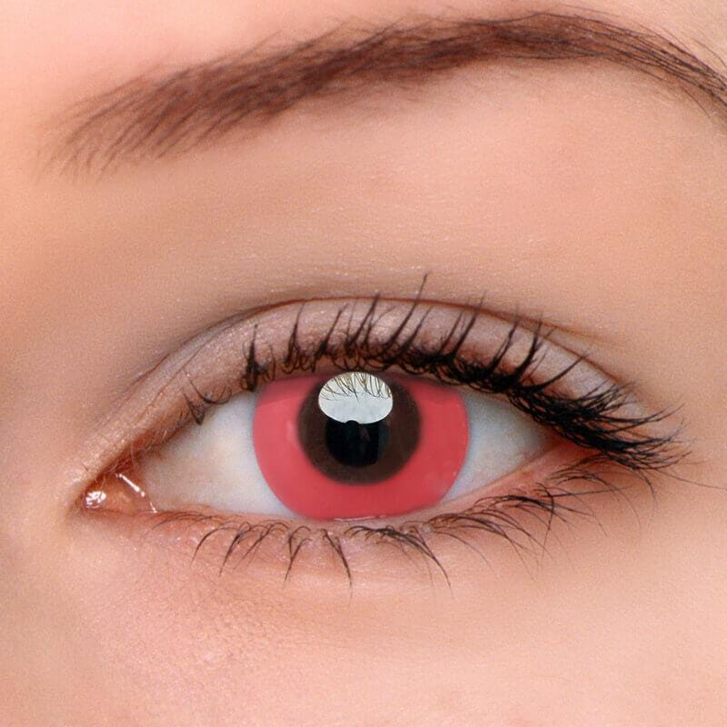 Pure Pink Colored Contact Lenses | Lamon Beauty