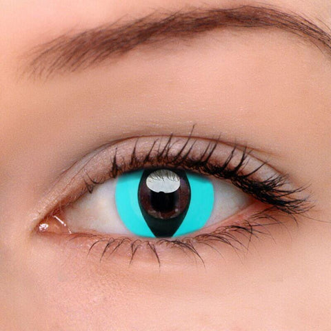 Cat Eye Blue Colored Contact Lenses | Lamon Beauty