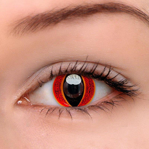 Eye Of Sauron Red Colored Contact Lenses | Lamon Beauty