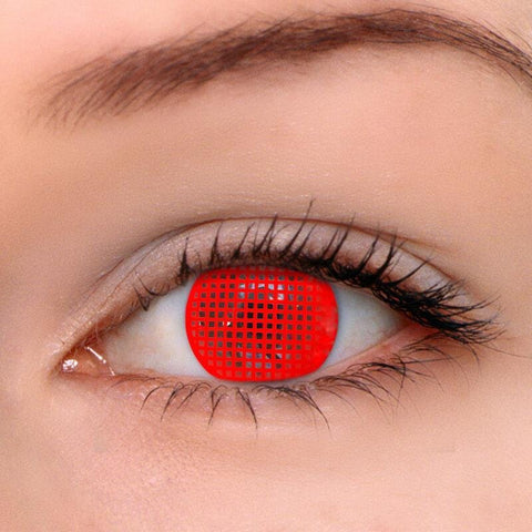 Screen Red Colored Contact Lenses | Lamon Beauty