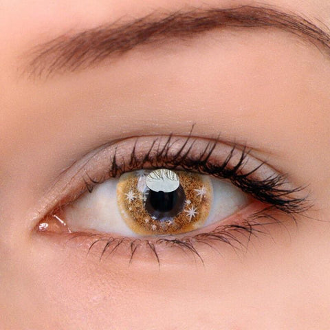 Snowdrop Brown Colored Contact Lenses | Lamon Beauty