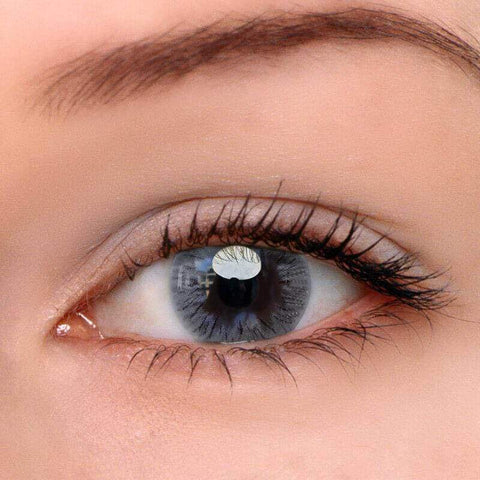 Fireworks Grey Colored Contact Lenses | Lamon Beauty