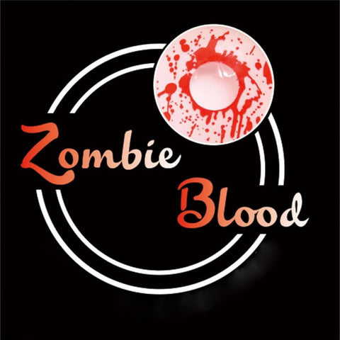 Zombie Blood Colored Contact Lenses | Lamon Beauty