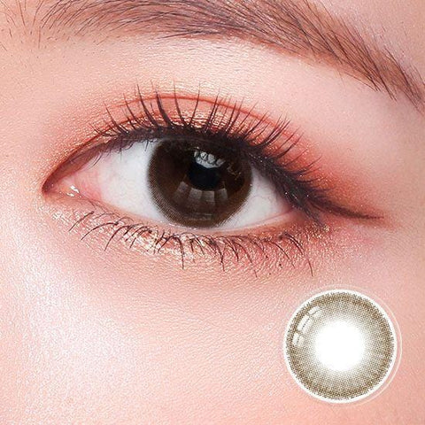 Basics Dazzling Choco Color Contact Lenses | Lamon Beauty