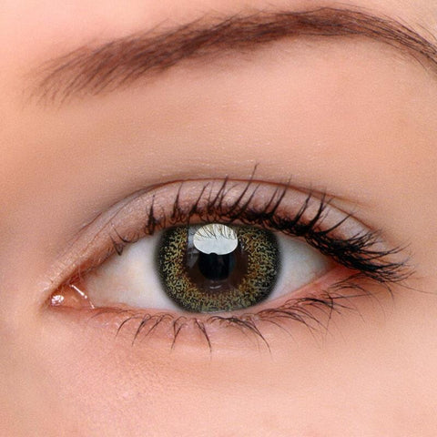 Blooming Brown-Green Colored Contact Lenses | Lamon Beauty