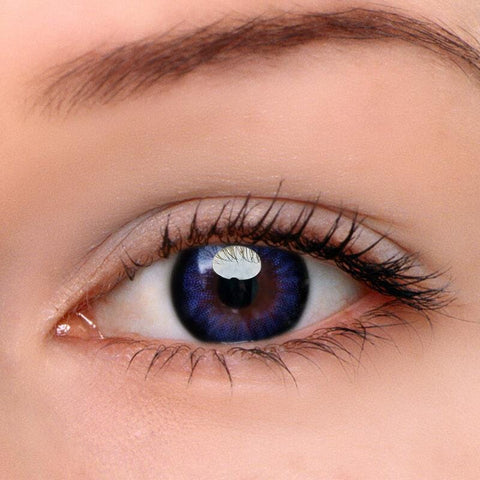 Blue-Purple Colored Contact Lenses | Lamon Beauty