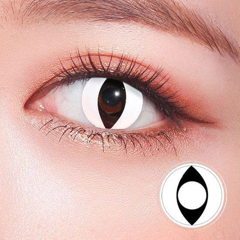 White Cat Eyes Cosplay Colored Contact Lenses | Lamon Beauty