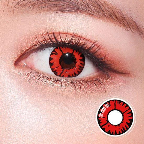 Red Volturi Crazy Colored Contact Lenses | Lamon Beauty