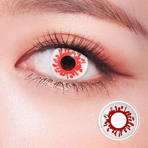 Blood Splat Halloween Colored Contact Lenses | Lamon Beauty