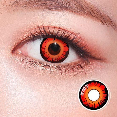 New Twilight Red Horror Colored Contact Lenses | Lamon Beauty