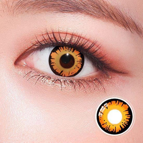 Yellow Twilight Crazy Colored Contact Lenses | Lamon Beauty