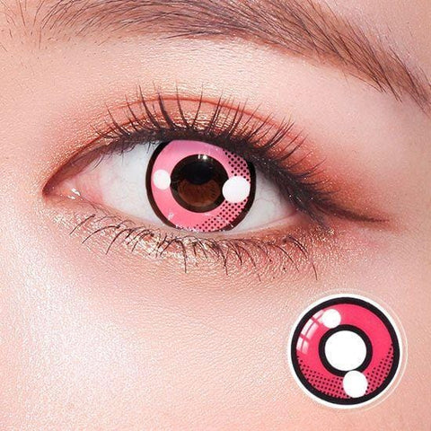 Pokemon Squirtle Pink Anime Colored Contact Lenses | Lamon Beauty