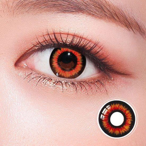 New Twilight Orange Horror Colored Contact Lenses | Lamon Beauty