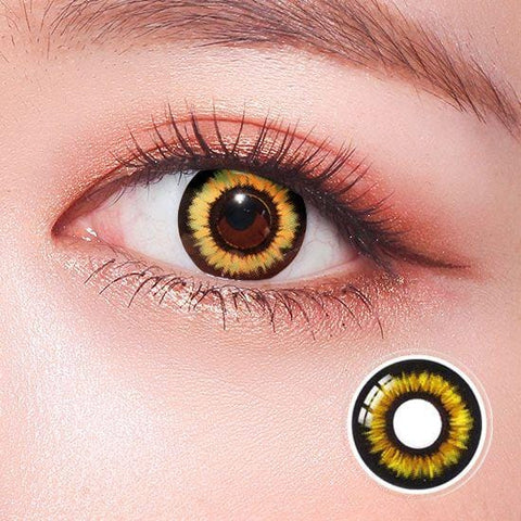 New Twilight Yellow Horror Colored Contact Lenses | Lamon Beauty