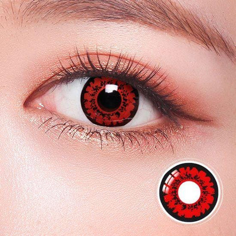 Tokyo Ghoul Ken Red Anime Colored Contact Lenses | Lamon Beauty
