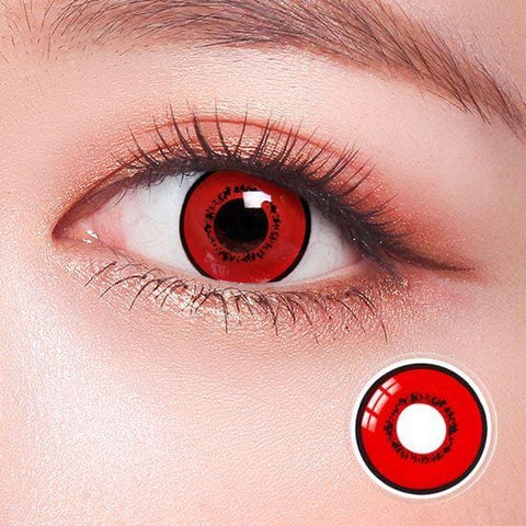 Tokyo Ghoul Touka Red Anime Colored Contact Lenses | Lamon Beauty