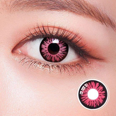 Kuroko's Basketball Pink Anime Colored Contact Lenses | Lamon Beauty