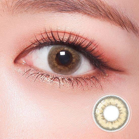 Celebriti Lustre Brown Color Contact Lenses | Lamon Beauty