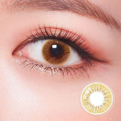 Celebriti Divine Gold Color Contact Lenses | Lamon Beauty