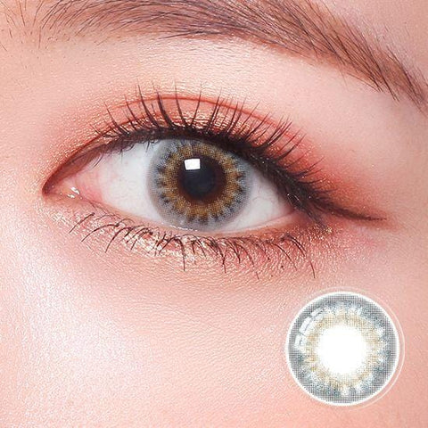 Celebriti Airy Gray Color Contact Lenses | Lamon Beauty
