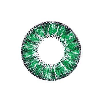 Super Crystal Glitter Green Colored Contact Lenses | Lamon Beauty