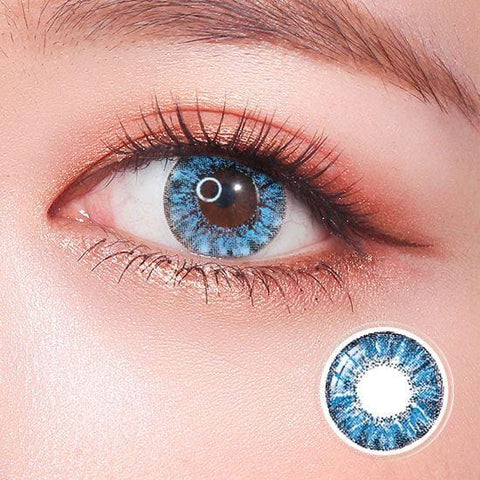 Super Crystal Blue Colored Contact Lenses | Lamon Beauty