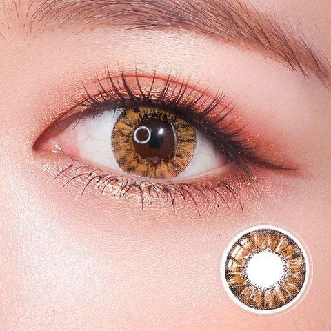 Super Crystal Brown Colored Contact Lenses | Lamon Beauty