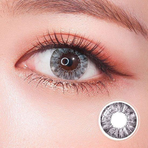 Super Crystal Glitter Gray Colored Contact Lenses | Lamon Beauty