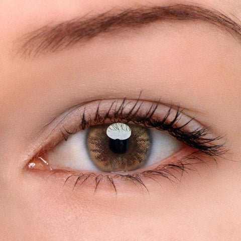 Crystal Ball Caramel Brown Colored Contact Lenses | Lamon Beauty