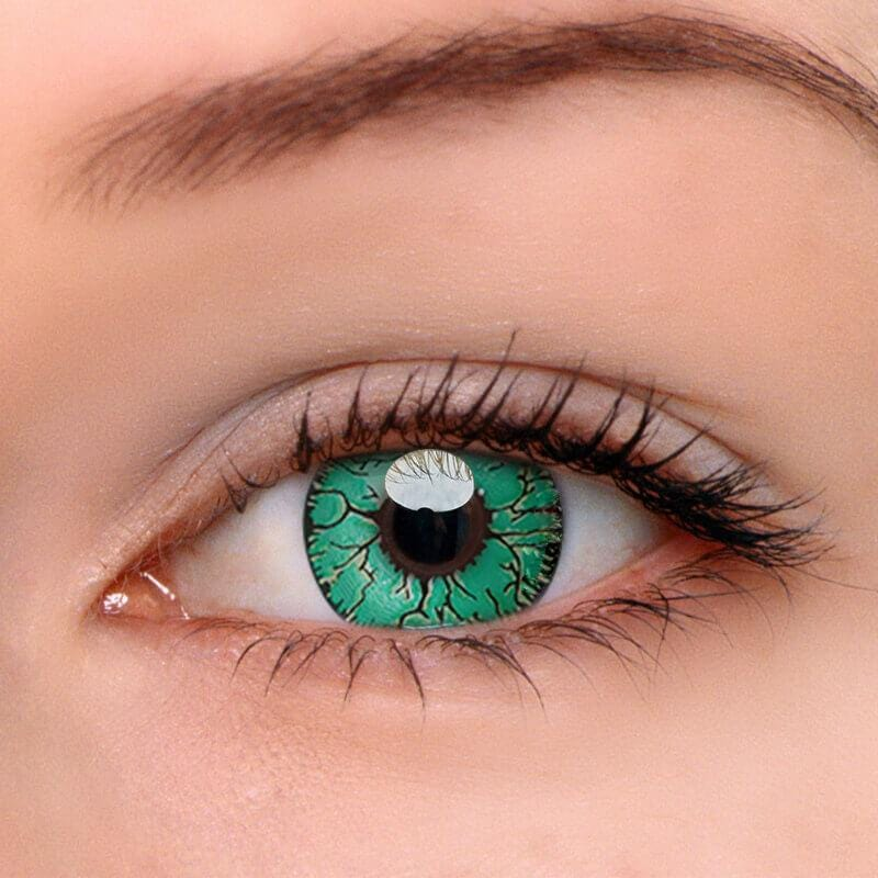 Fissure Green Colored Contact Lenses | Lamon Beauty