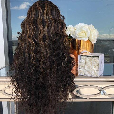 Fashion Black Long LongCurly Wig | Lamon Beauty