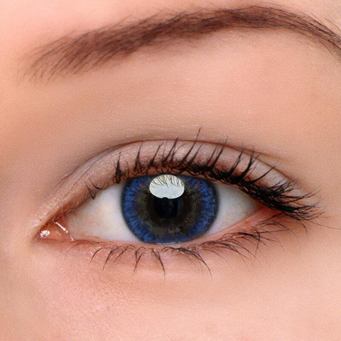 Glow Blue Colored Contact Lenses | Lamon Beauty