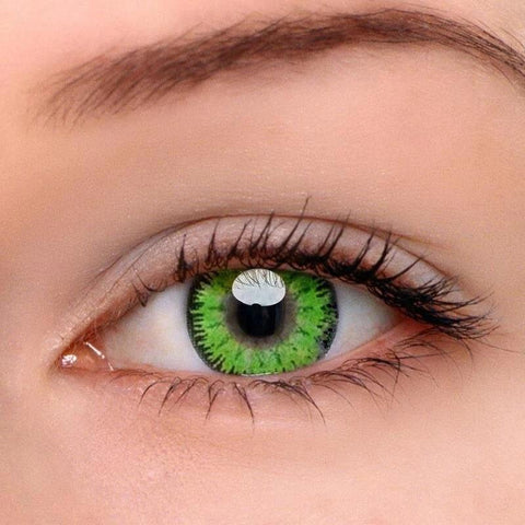 Mystery Green Colored Contact Lenses | Lamon Beauty
