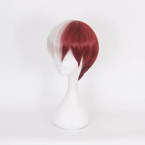 My Hero Academia Wigs Todoroki Shouto Wigs Comics Cosplay Wigs Anime Wig Cap | Lamon Beauty
