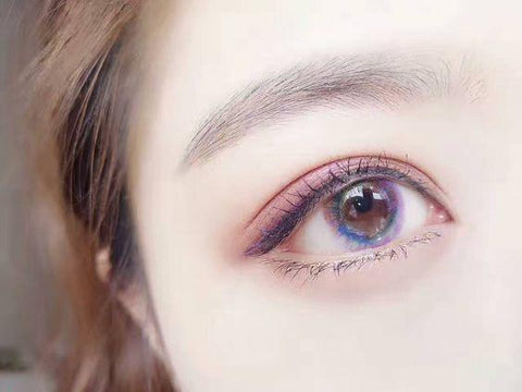 Luna Pink Colored Contact Lenses | Lamon Beauty