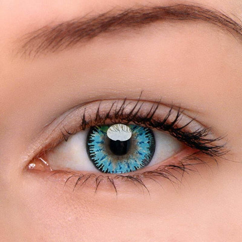 Mystery Blue Colored Contact Lenses | Lamon Beauty