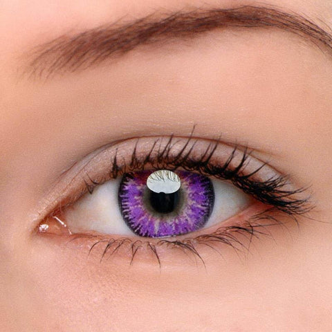 Mystery Purple Colored Contact Lenses | Lamon Beauty