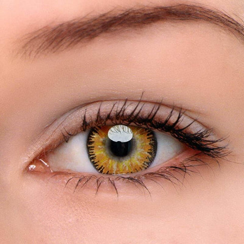 Mystery Yellow Colored Contact Lenses | Lamon Beauty