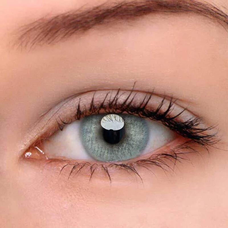 Polar Lights Blue-Grey Colored Contact Lenses | Lamon Beauty