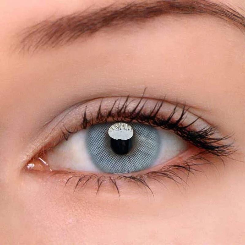Polar Lights Grey Colored Contact Lenses | Lamon Beauty