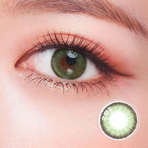 Quartz Milky Green Color Contact Lenses | Lamon Beauty