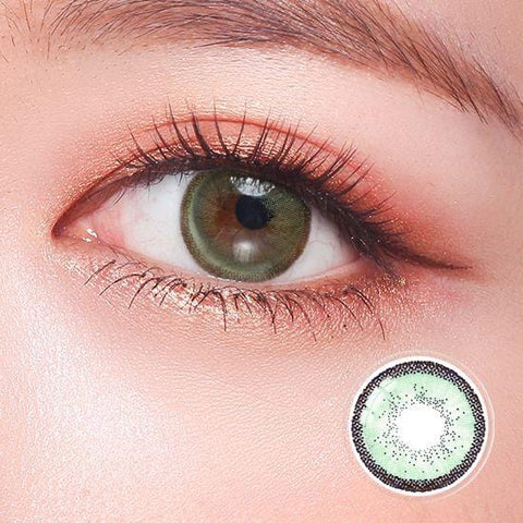Quartz Peridot Green Color Contact Lenses | Lamon Beauty
