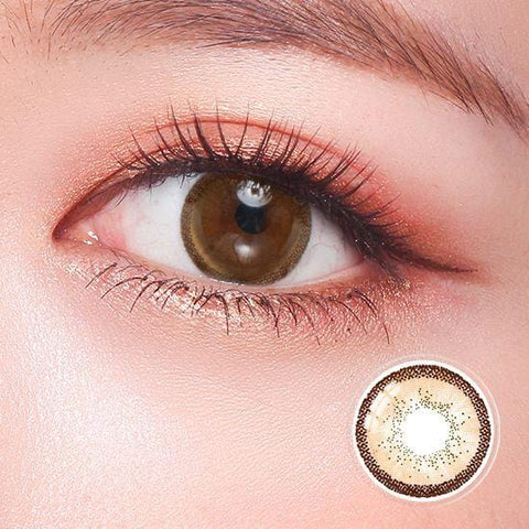 Quartz Amber Brown Color Contact Lenses | Lamon Beauty