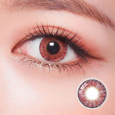 Revo Color Romantic Juicy Red Colored Contact Lenses | Lamon Beauty