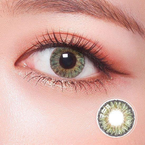 Revo Color Romantic Dreamy Green Colored Contact Lenses | Lamon Beauty